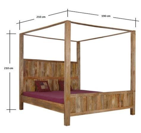 letti a baldacchino in legno prezzi letto a baldacchino legno naturale etnico outlet mobili
