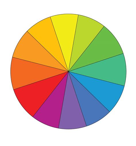 color with a primary color wheel