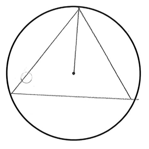 Triangle On Circle equilateral triangle in a circle