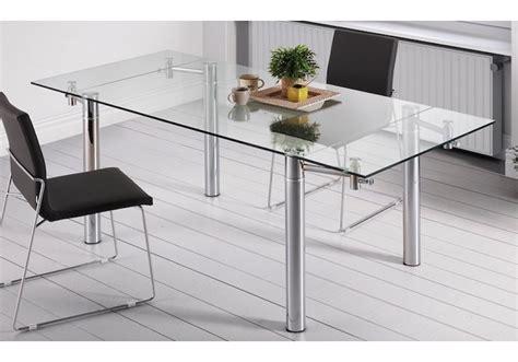 mesa comedor cristal extensible mesa comedor extensible 120 180x90 cm cristal daikiri