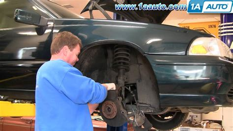 install replace front cv joint axle assembly volvo    aautocom youtube