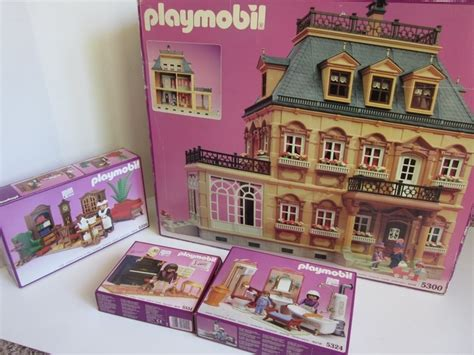 playmobile dolls house playmobil victorian mansion doll house 5300 5320 5324 5351 bathroom maid piano