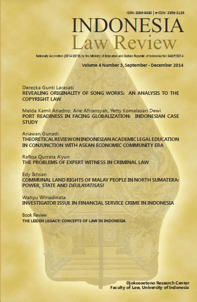 journal indonesia law review
