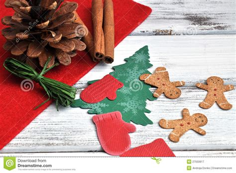 christmas craft supplies stock image image of craftwork