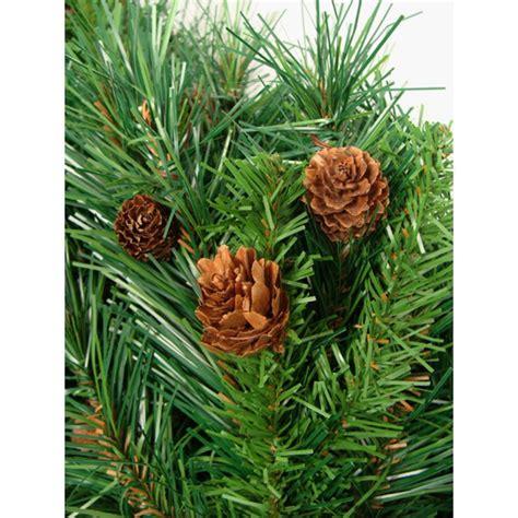 northlight 4 foot berrywood pine tree northlight 4 ft x 30 in dakota pine artificial tree with pine cones