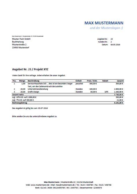 Angebot Schreiben Muster Pdf Excel Vorlage Automatisierte Angebots Und Rechnungserstellung Inkl Produkt Und