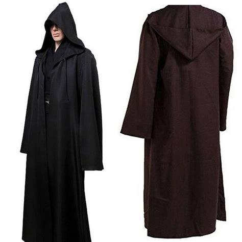 mens jedi robe soft war bath robe jedi hooded bathrobe cloak