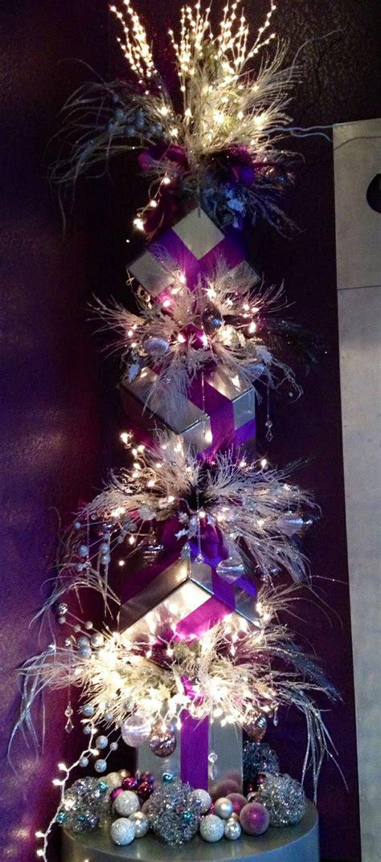 purple christmas tree christmas holidays pinterest