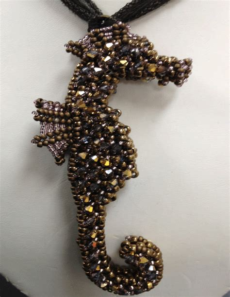 right angle bead weave cubic right angle weave seahorse pendantthe lh bead gallery