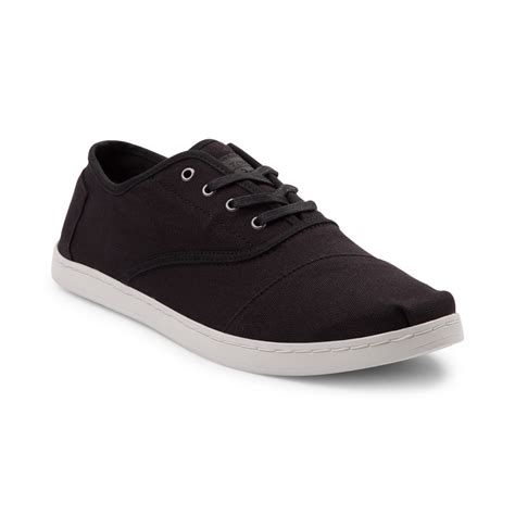 black shoes mens toms donovan casual shoe black 354109