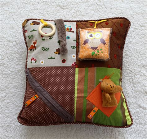 Sensory Pillow by Fidget Cushion Sensory Activity Pillow Dementia Twiddle