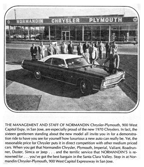 Chrysler Financial Corp by Normandin S Chrysler Imperial Dealer Postcard