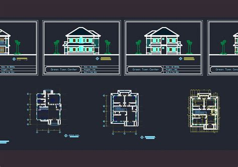 modern villa dwg block  autocad designs cad