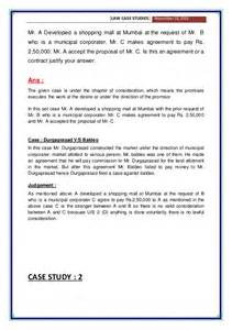 business law case studies with solution