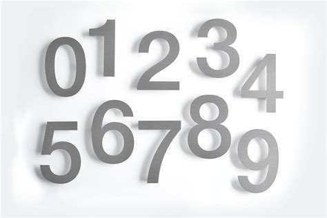 large modern house numbers large modern stainless steel house numbers by goodwin goodwin notonthehighstreet com