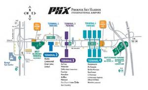 Phoenix Sky Harbor Map by Phoenix Sky Harbor Airport Terminal Map