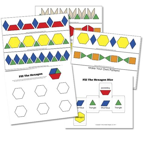 kindergarten pattern blocks printables preschool pattern block activities confessions of a