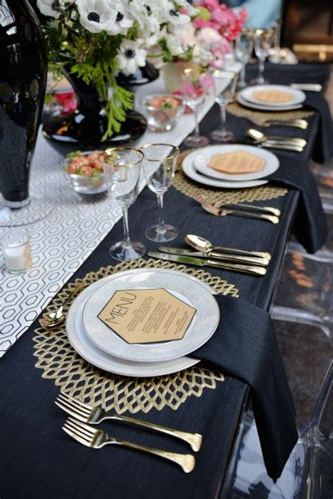 black and gold table setting 17 best ideas about gold table settings on