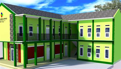 contoh autocad gedung sekolah madrasah  lantai arsitek sipil blog