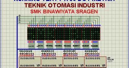 cara membuat jam digital dengan excel www suparno com runing text 7 x 56 dot matrix dengan at89s51