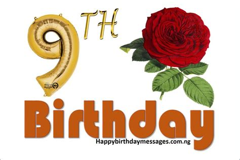 Happy 9th Birthday Quotes Happy 9th Birthday Wishes Greetings And Quotes Happy