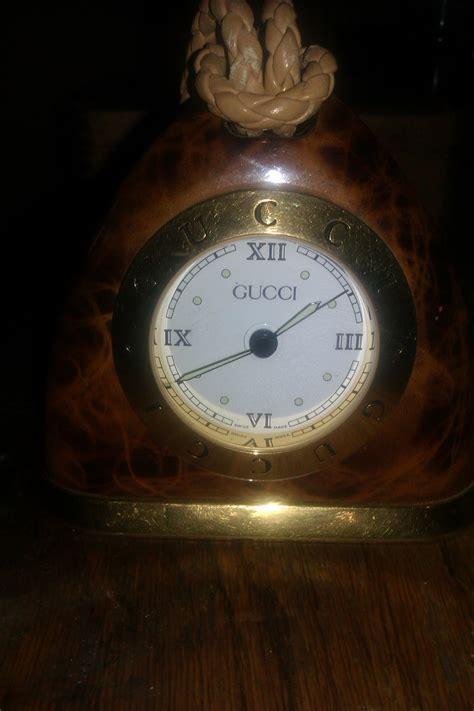 rare gucci tortoise shell stirrup desk alarm clock