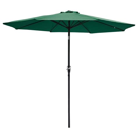 Waterproof Patio Umbrellas 9 Ft Aluminum Outdoor Patio Umbrella Market Yard W Crank Tilt 4 Color