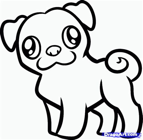 outline of a pug pug outline ink d woodburning