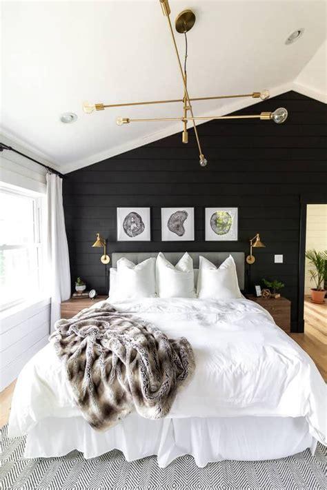 black  white modern master bedroom modern master