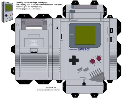 Nes Papercraft - cubeecraft de juegos papercraft gaming and