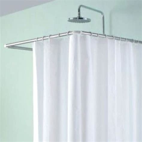 corner tub shower curtain rod l shaped corner corner u shaped shower curtain rod shower