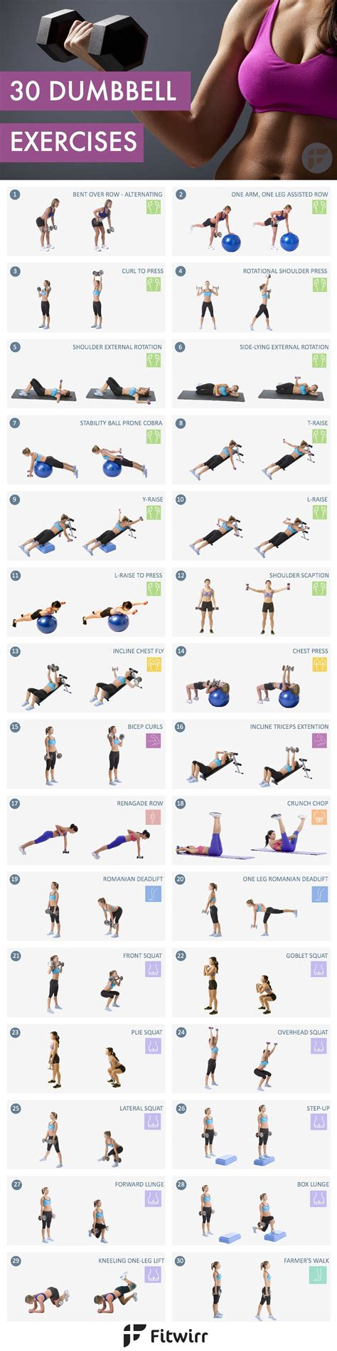 30 must dumbbell exercises for workouts at home