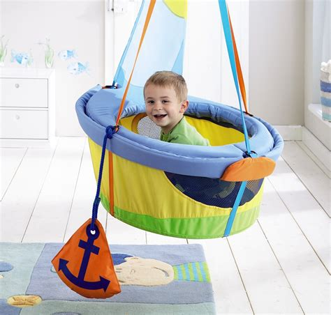 letting baby sleep in swing let your toddler s imagination set sail with haba s swing