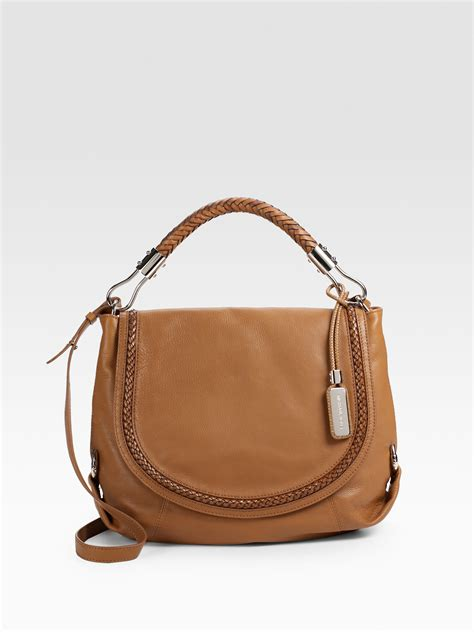 Michael Kors Shoulder Flap Bag by Michael Kors Skorpios Flap Leather Shoulder Bag In Brown