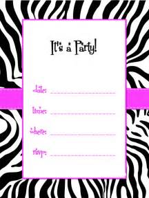 zebra invitation template zebra print template clipart best clipart best