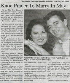Upcoming Wedding Announcement by 1000 Images About Engagement Newspaper On