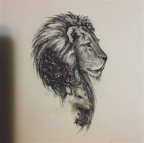 lion and lamb tattoo and search tattoos