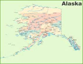 Map Alaska by Large Detailed Map Of Alaska