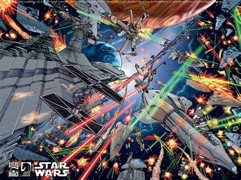 Star Wars Wall Murals Wallpaper star wars space battle wallpaper wallpapersafari