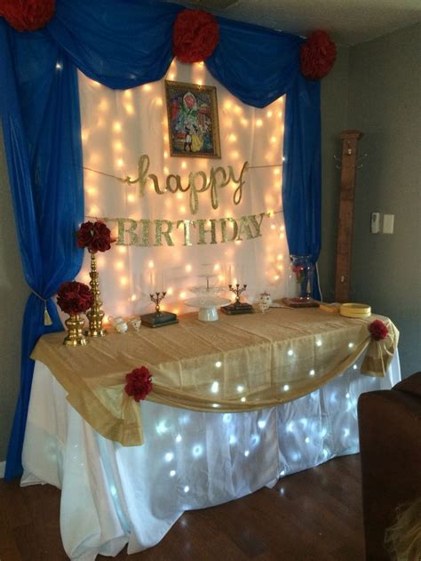 beauty and the beast table decorations nice table idea beauty and the beast party pinterest
