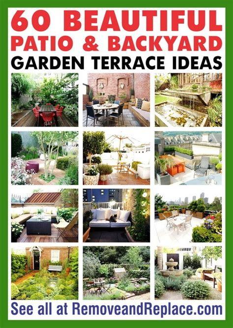 terraced backyard landscaping ideas 60 beautiful patio and backyard garden terrace ideas removeandreplace com