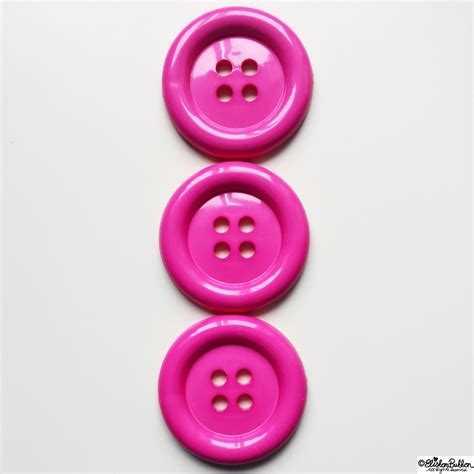 Three Buttons day 29 three three large pink shiny buttons eliston