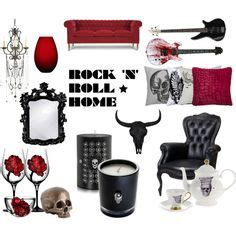 Rock N Roll Home Decor Quot Rock N Roll Home Decor Quot By Crystal85 On Polyvore Polyvore Colors For Bedrooms