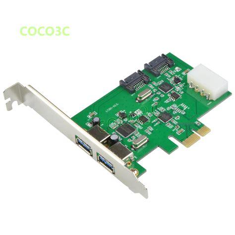 Pci E Usb 3 0 1 pcie pci express to usb 3 1 type c 2 port usb 3 0 reversible card wholesale russia brazil reviews