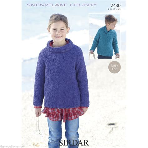 snowflake knitting pattern for jumper 2430 sirdar snowflake chunky sweater knitting pattern