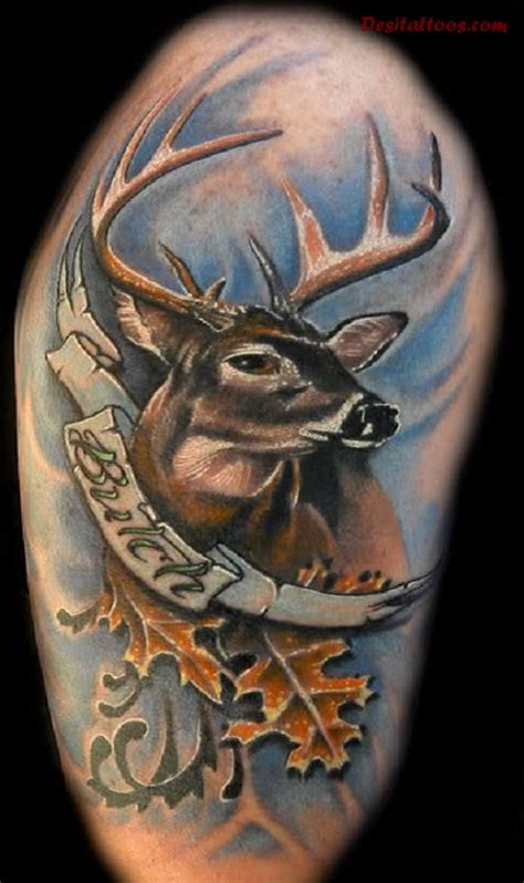 whitetail deer tattoos deer tattoos and pictures to pin on tattooskid