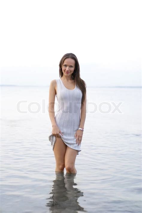 underage sexy young sexy lady in the water stock photo colourbox