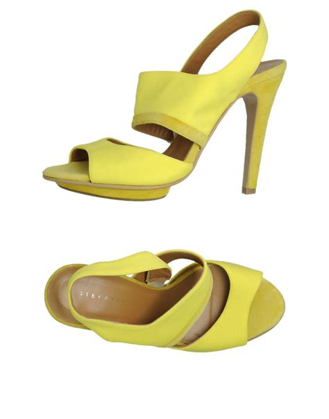 yellow platform sandals stefanel platform sandals in yellow lyst