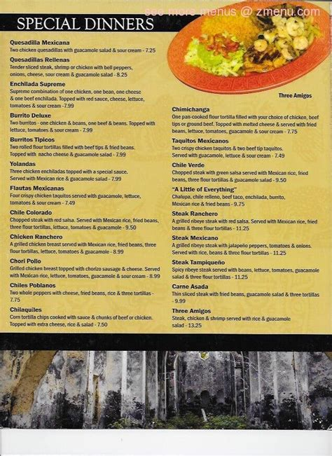 Online Menu of Yucatan Mexican Restaurant Restaurant ... Arby S Menu Prices