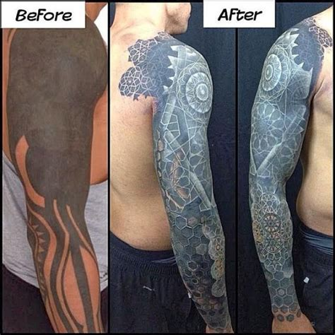 tattoo cover up red over black the newest trend solid black tattoos with white